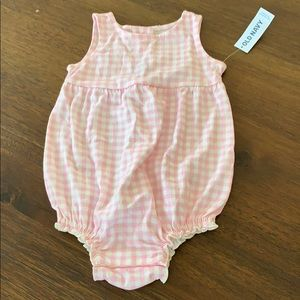 Old Navy Pink Checkered Romper
